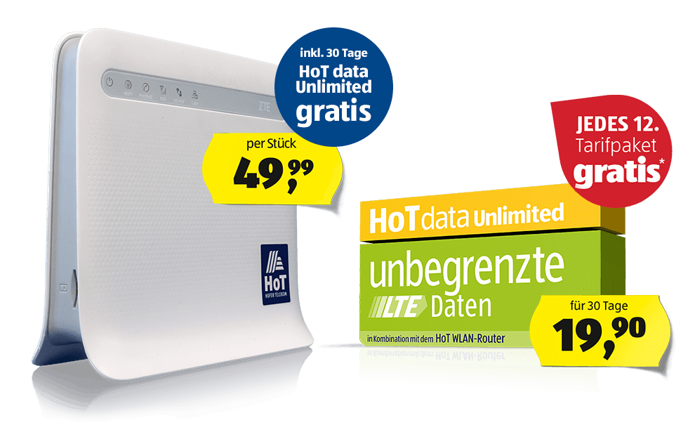 Mobilfunktarif HoT data Unlimited